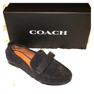 "Coach ""Henny Bow Suede Loafer"" 7.5M"